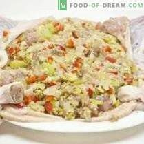 Полнети пилешки со зеленчук и панцета