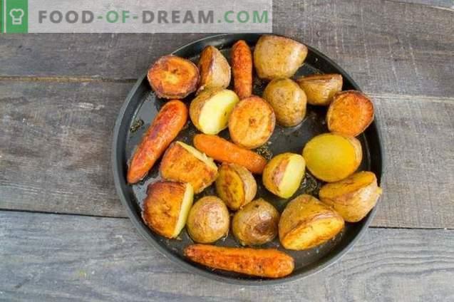Пилешки гулаш со печени зеленчуци и колбаси
