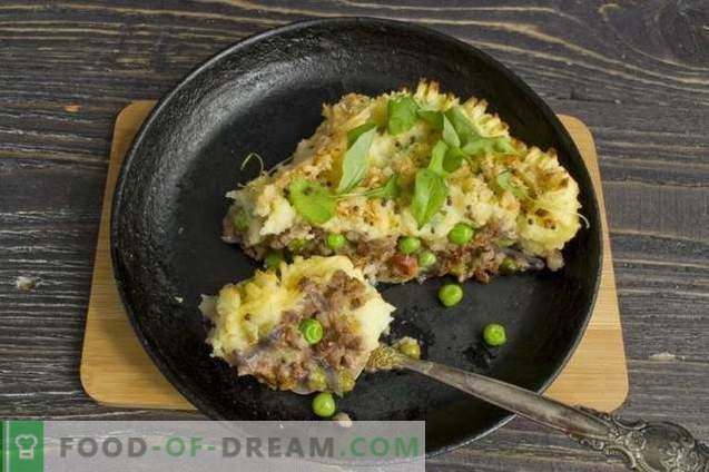 Паштета од компир со мелено месо и зеленчук