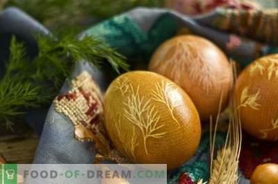 Како да се наслика јајца за Велигден со куркума, кора од лук, газа ...