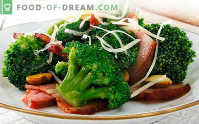 Broccoli salad - five best recipes. How to properly and tasty cooked broccoli salad.