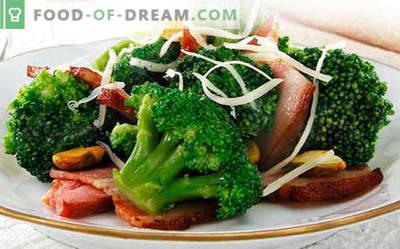 Салата од брокула - пет најдобри рецепти. Како правилно и вкусно варен салата од брокула.