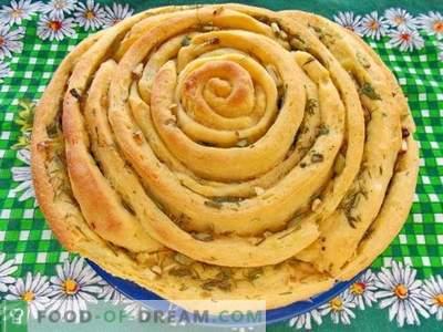 Спирален леб со билки и лук