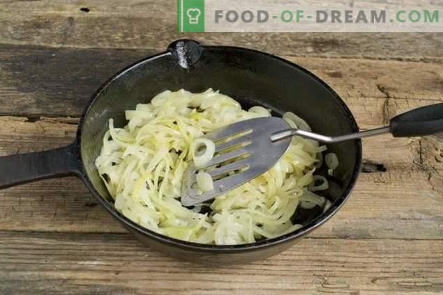 Постен од салата со виолетова компир