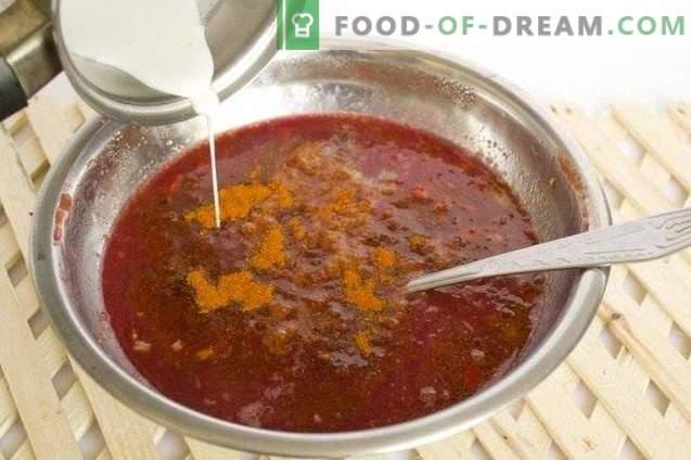 сос од текемија со парчиња зеленчук