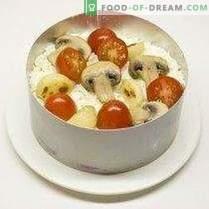 Празнична салата со сирење и печен лук