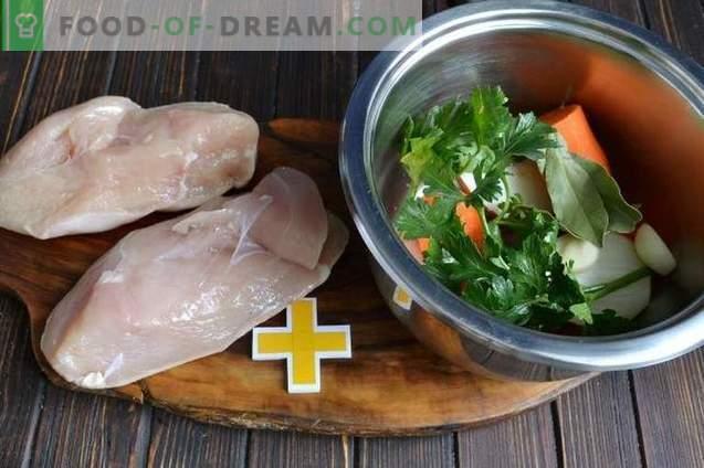 Супа од ориз со пилешки гради и путер