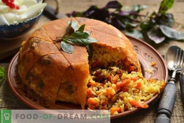 Shakh-pilaf во пита леб - конзумирање на одмор