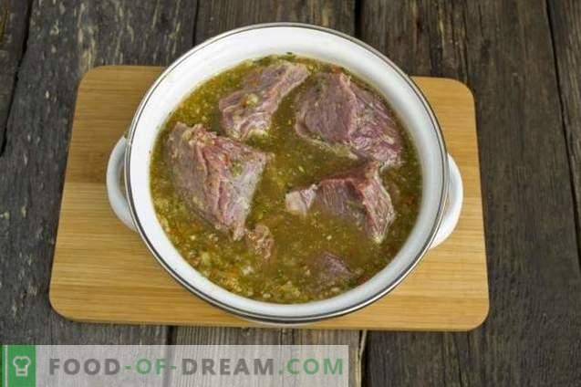 Kebab de carne de vaca suculenta
