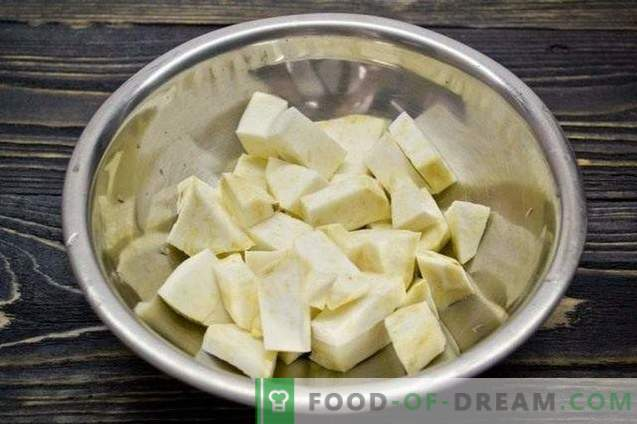 Гночи со целер, спанаќ и компири