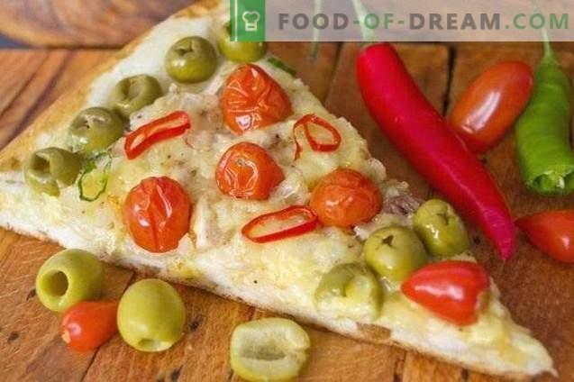 Пица со пилешко и цреша домати