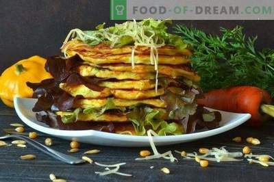 Палачинки со зеленчук со пастисони и пармезан