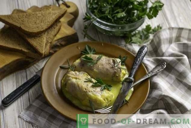 Сочни кордон сини пилешки ролни со бешамел сос
