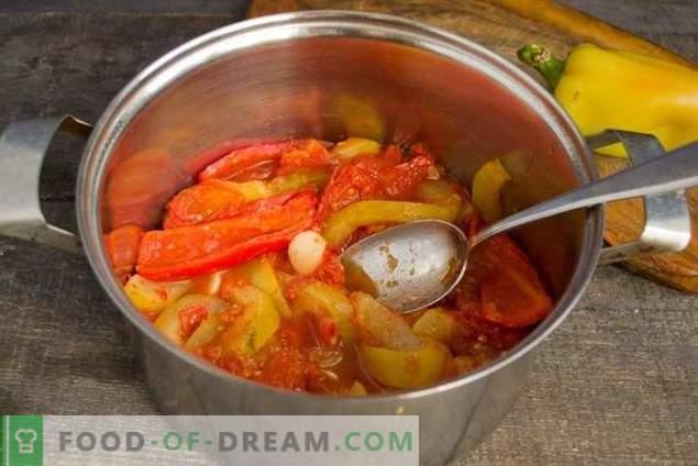 Цукини чорби со домати и пиперки