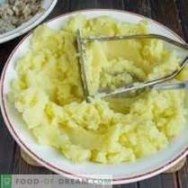 Galettes de pommes de terre fourrées aux champignons