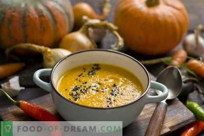 Moliūgų sriuba su morkomis ir imbieru