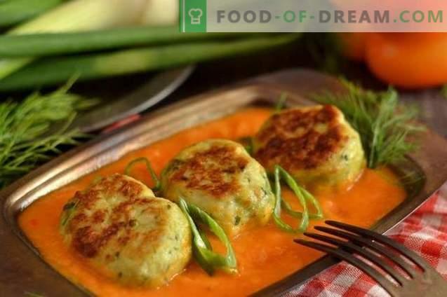 Мијални топчиња во рерна со зеленчук од зеленчук