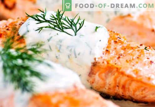 Лосос во крем сос - најдобрите рецепти. Како правилно и вкусно готвење лосос во крем сос.