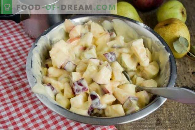 Пита со круши и јаболка - десерт од есенски чај