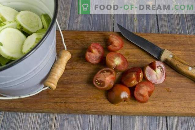 Koreańska sałatka z ogórkami i pomidorami na zimę