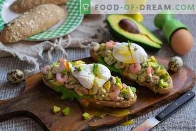 Sandwich à l'avocat et aux crevettes - facile et savoureux