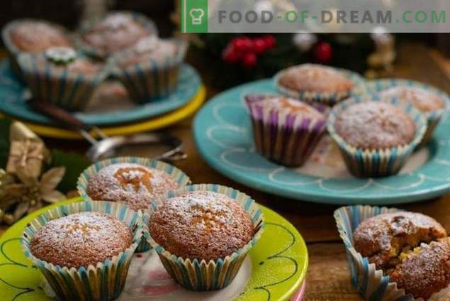 Homemade dried fruit muffins - simple and tasty
