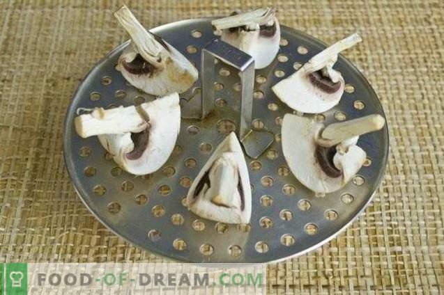 Крем супа со спанаќ, лук стрели и печурки