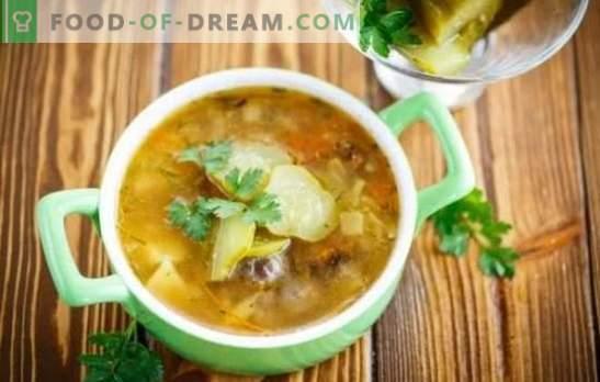 Марината со печурки - ароматична супа. Рецепти од едноставни до многу едноставни - ние готвевме домашните кисели краставички со печурки и без месо