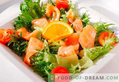 Салата со лосос - избор на најдобри рецепти. Како правилно и вкусно да се направи салата со лосос.