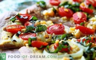 Пица без сирење - и ова се случува! Рецепти од различни пици без сирење од брз, квасец, лиснато тесто