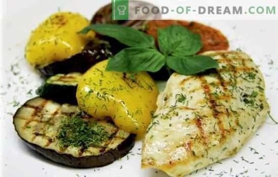 Сочни пилешки гради со зеленчук: вкусен! Најдобри рецепти за пилешки гради со зеленчук, сирење, суви кајсии, грав, маслинки