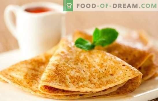 Палачинки на кефир се тенки: чекор-по-чекор рецепт, тајни за готвење. Учење да се подготват вкусни тенки палачинки на кефир