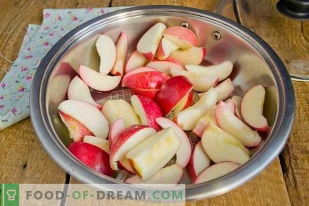 Јаболко џем за зима со банана и сливи