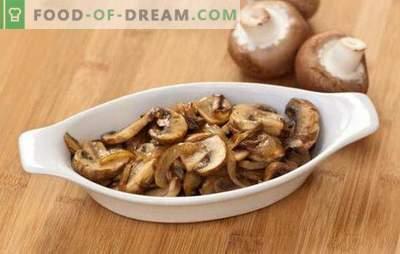 Пржени печурки со кромид - едноставен и вкусен, брз и убав! Избор на популарни рецепти на пржени печурки со кромид