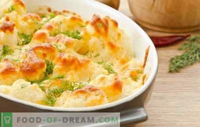 Карфиол со јајца во рерната - тајните на вкусната храна. Карфиол со јајца и сирење во рерна за секојдневниот живот и празниците