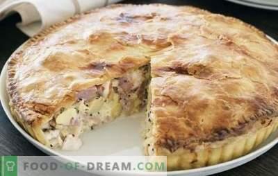 Курник од лиснато тесто на празната маса: додајте пилешко и компири! Како да се готви пилешко пилешко и компир лиснато тесто