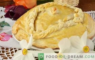 Курник на кефир со компири - срдечна пита! Едноставни рецепти на вкусна пилешка јагула со кефир со компири за печка и мултикукер