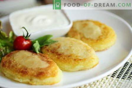 Компир zrazy - најдобрите рецепти. Како правилно и вкусно варен компир zrazy.