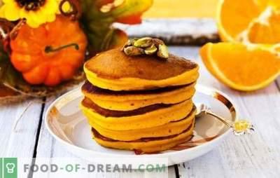 Тиква палачинки - сонца од тавата! Рецепти светли и миризливи тиква палачинки со млеко, кефир, вода