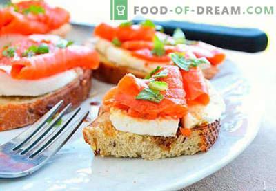 Празнични сендвичи се најдобри рецепти. Како да брзо и вкусно готви празнични сендвичи.