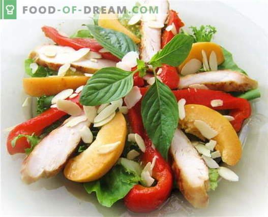 Салата од пиперка со пилешко - најдобри рецепти. Како правилно и вкусно да се подготви салата со пиперки и пилешко.