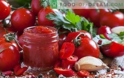 Домашен кечап - ова е корисно и прилично едноставно. Интересни домашни кетчуп рецепти од домати, пиперки, огрозд, јаболка, сливи и цреши