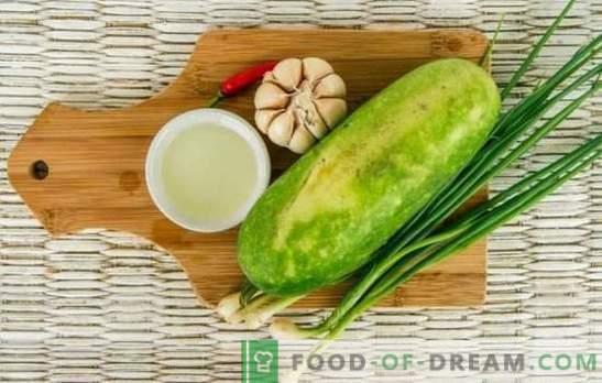 Тиквички со лук: вкусна, едноставна, нискокалорична. Како да се готват секојдневни и свечени јадења од тиквички со лук