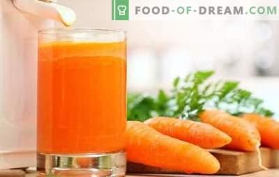 Сок од морков дома: цврсти витамини! Рецепти од сок од природен морков и коктели со учество