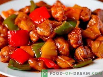Свинско месо во слатко-кисело сос - најдобрите рецепти. Како да правилно и вкусно готви свинско месо во слатко и кисело сос.
