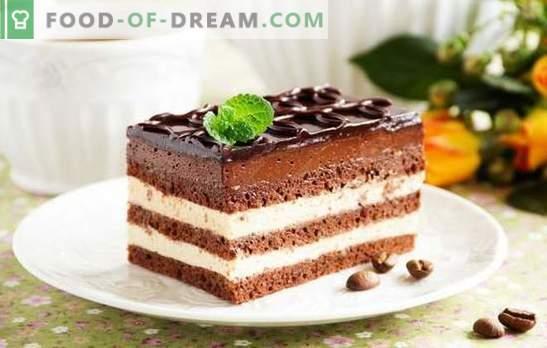 Опера торта - хармоничен десерт. Рецепти за разни Опера колачи со рибизли, кафе, ореви, швајцарски крем