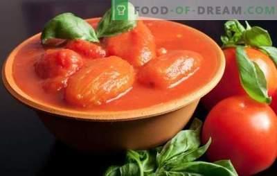 Домати во свој сок за зима: како се истури и станува неспоредлив! Рецепти на домати во сопствениот сок за зима