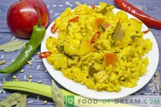 Вегетаријанска карри ориз со јаболка