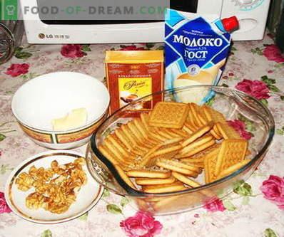 Рецепти за торта: компири, кошеви, бисквити, зачини, eclairs ...