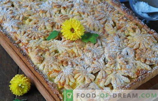 Десерт од победник е песочна пита од јаболка. Варијанти на тесто и пломби за песок колачи со јаболка